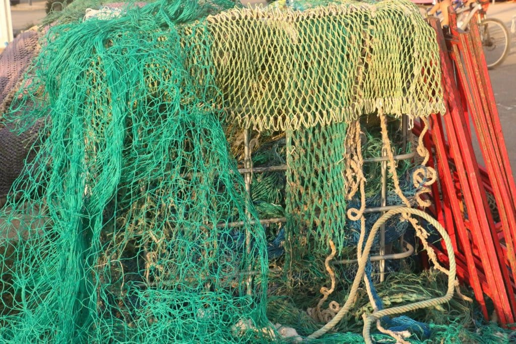 containers with recycled fishing nets