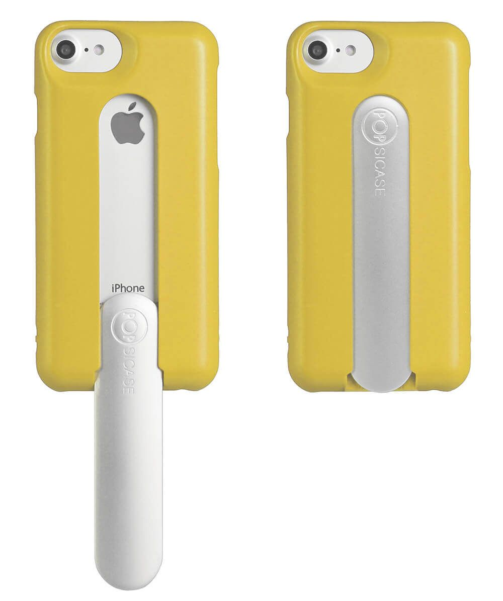 Mimosa Yellow iPhone case with a handle