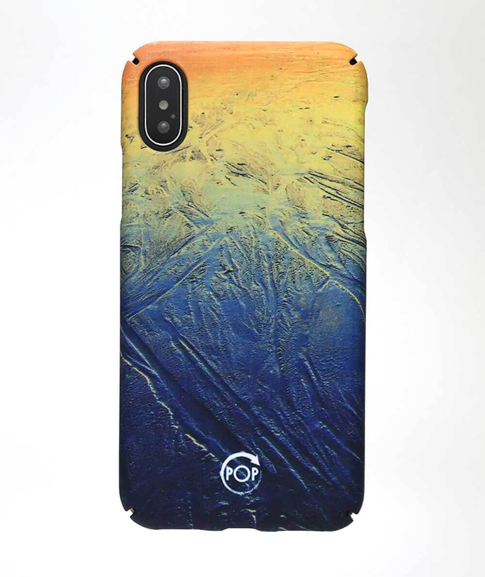 recycled iphone x case with a beach