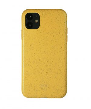 biodegradable iPhone 12 case yellow