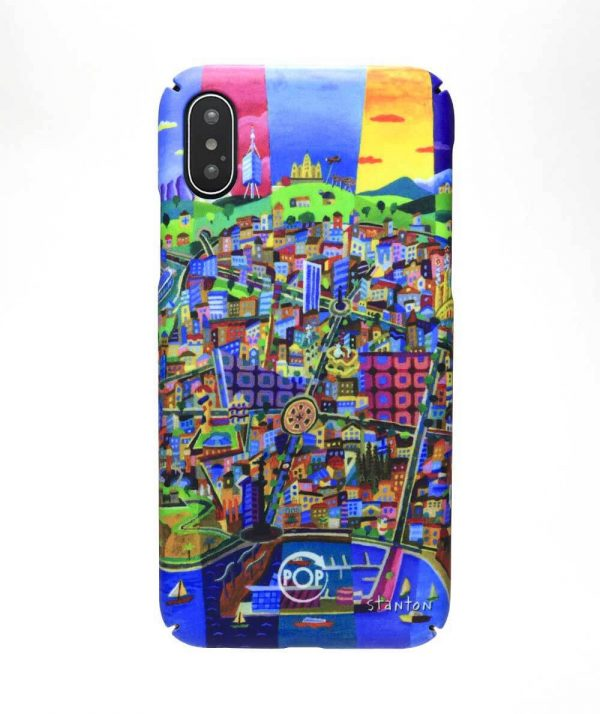 recycled iphone case with illustration